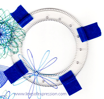 The secret to making the spirograph stable while creating designs is revealed in this post.